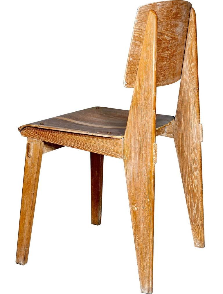 Quot all wood chair by jean prouvé at stdibs