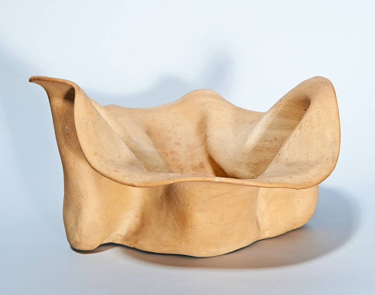 Earthenware Bowl by George Ohr For Sale