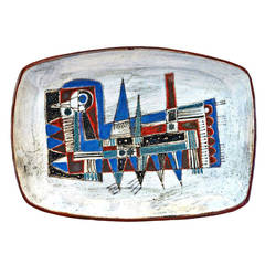 Wall-Plaque or Charger by Jean Derval