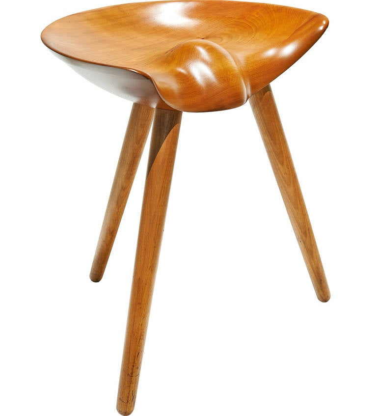 Three Legged Stool By Mogens Lassen At 1stdibs