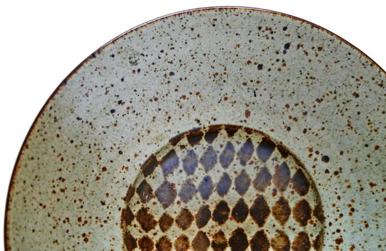 Stoneware Bowl by Antonio Prieto For Sale