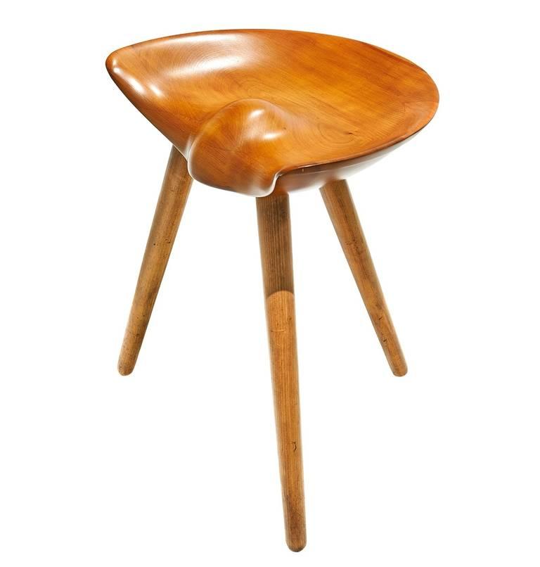 Three legged stool by mogens lassen at 1stdibs