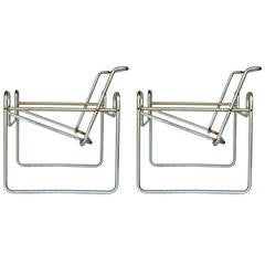 "Pair of Marcel Breuer for Knoll ""Wassily"" Chair Frames"