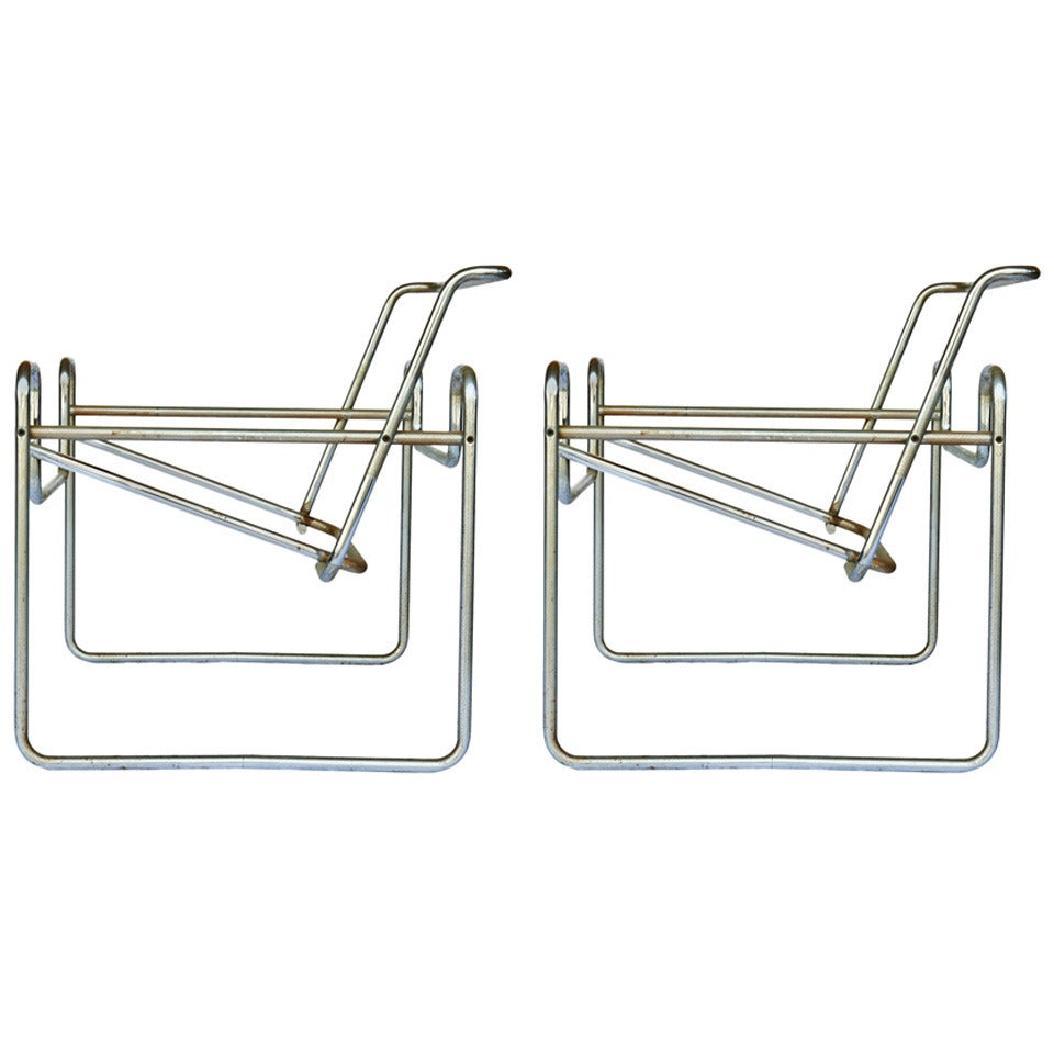 """Pair of Marcel Breuer for Knoll """"Wassily"""" Chair Frames"""