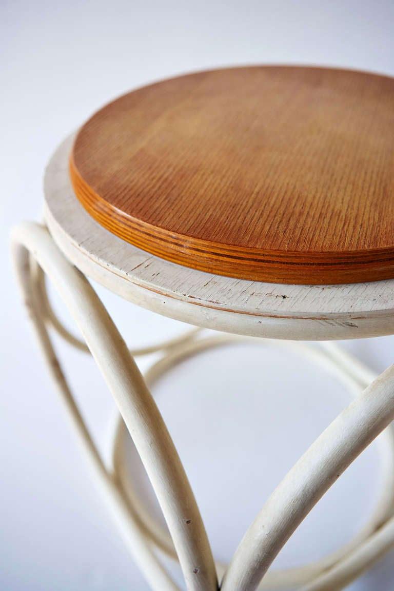 Austrian Stool/Occasional Table by Thonet For Sale