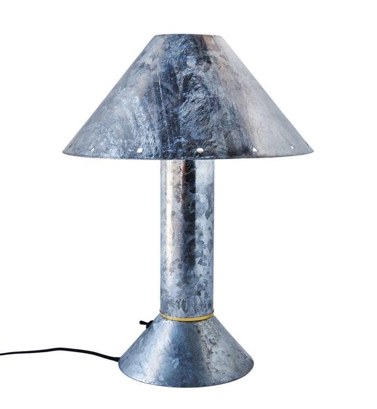 Zinc-Plated Table Lamps by Ron Rezek 7