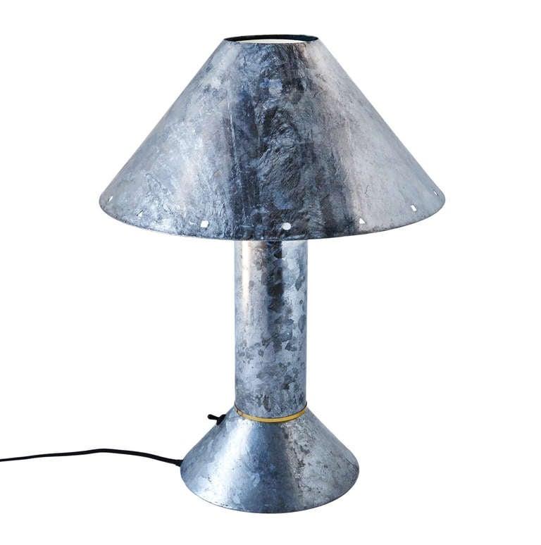 Zinc-Plated Table Lamps by Ron Rezek 8