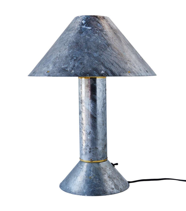 Zinc Plated Table Lamps By Ron Rezek For Sale At 1stdibs