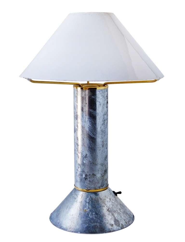 Zinc-Plated Table Lamps by Ron Rezek 6
