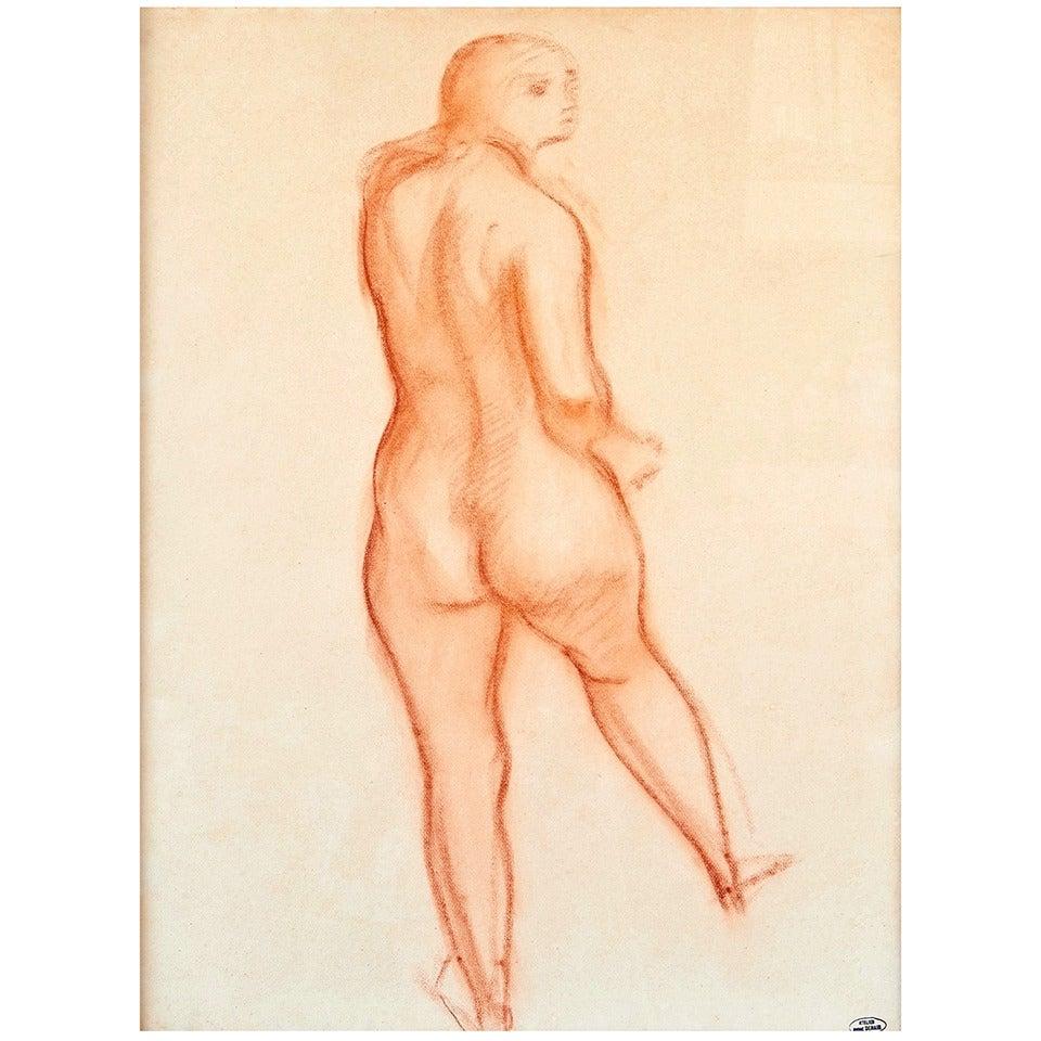 """Nu de Dos"" Drawing by André Derain, Late 1940s"