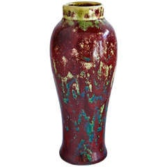 Plum Vase by Pierre-Adrien Dalpayrat