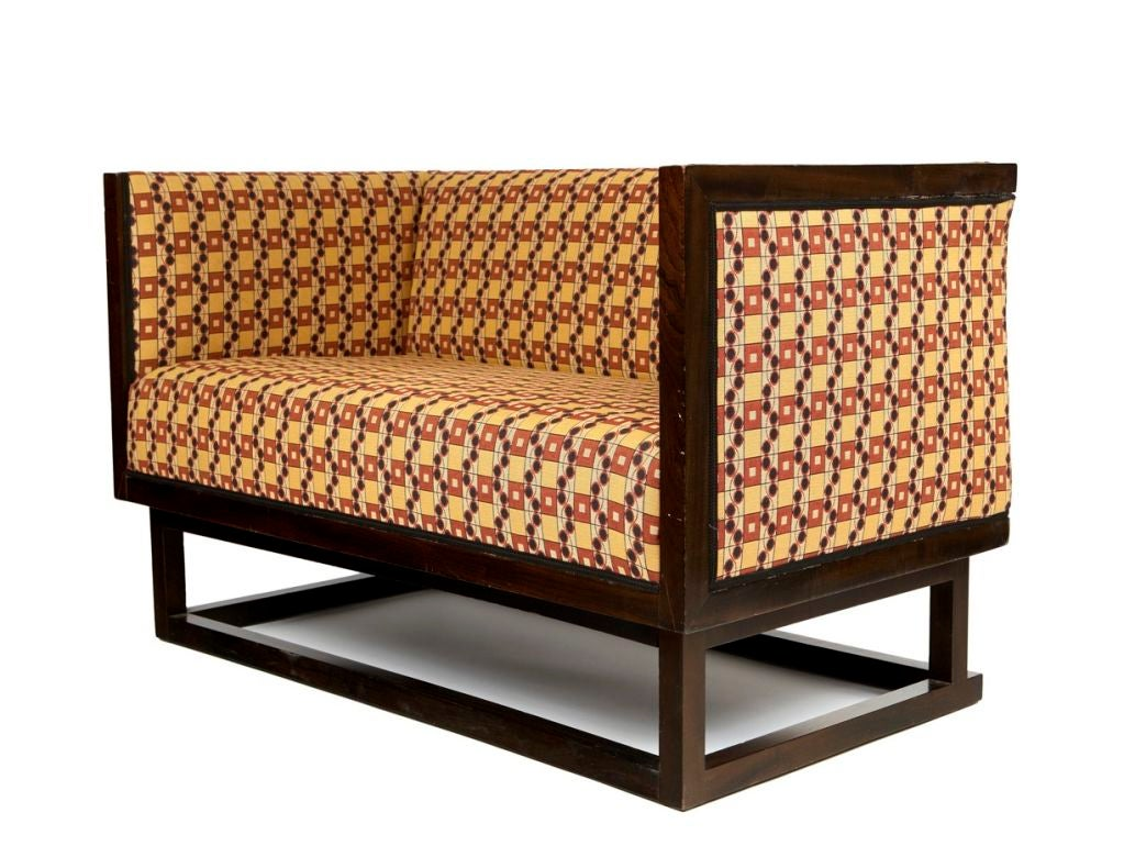 Sofa By Josef Hoffmann For The Prototype Of This Design Was Made Vienna Apartment One Dr Salzer