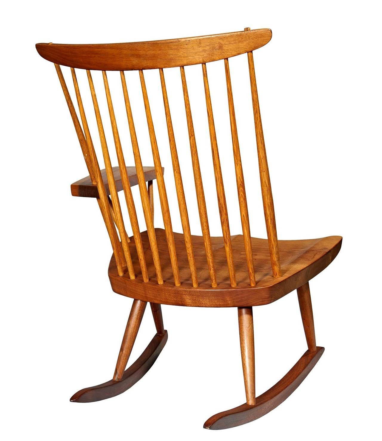 American Rocking Chair with Free-Edge Arm by George Nakashima For Sale