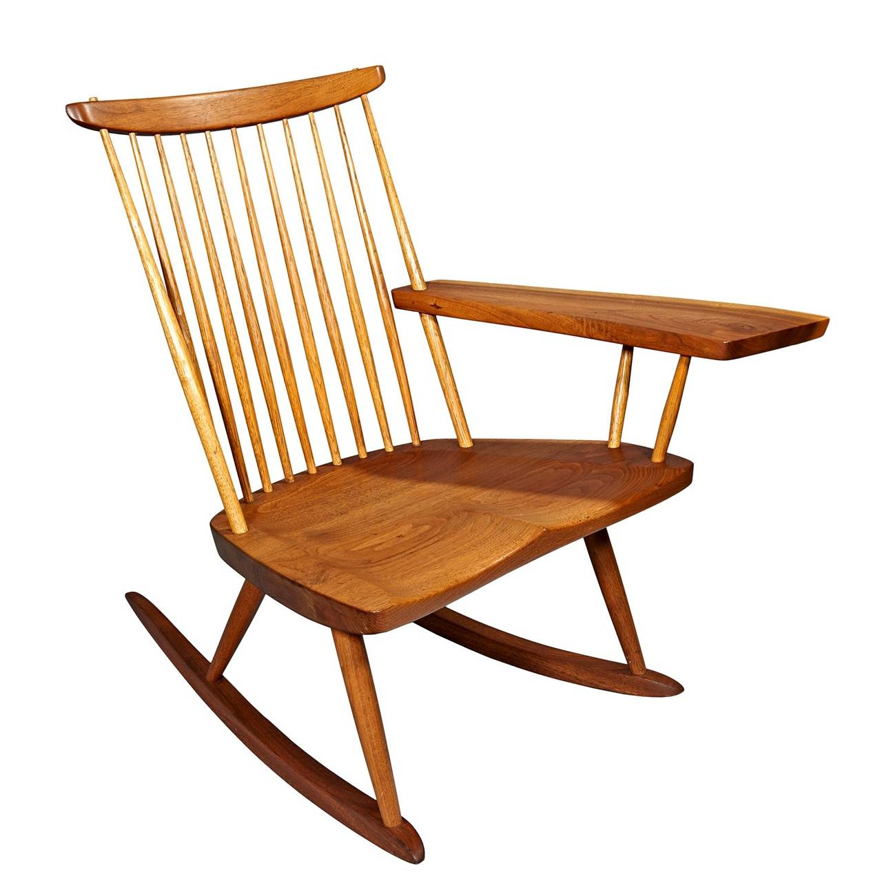 Rocking Chair with Free-Edge Arm by George Nakashima For Sale 2