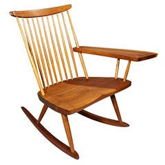 Rocking Chair with Free-Edge Arm by George Nakashima