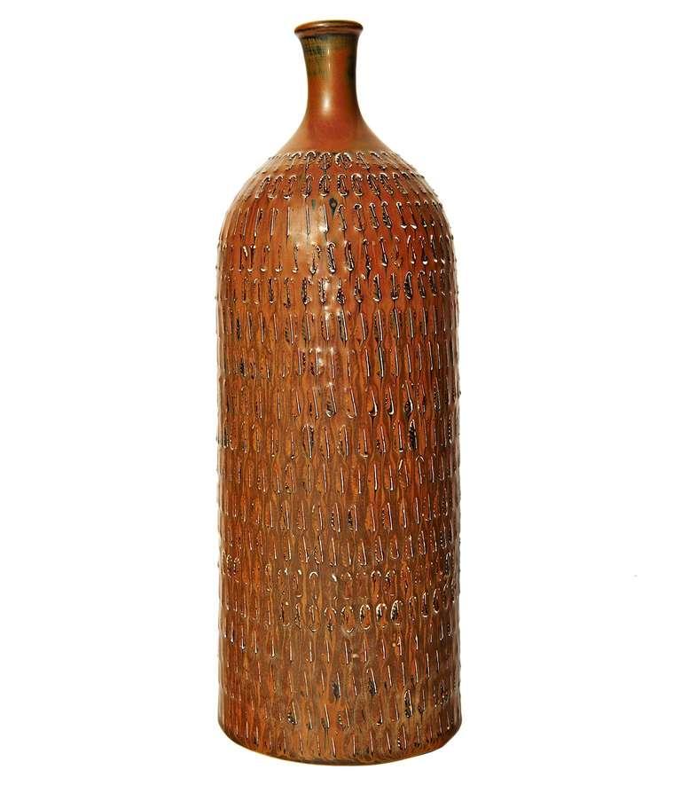 Tall Bottle-Form Vase by Stig Lindberg 2