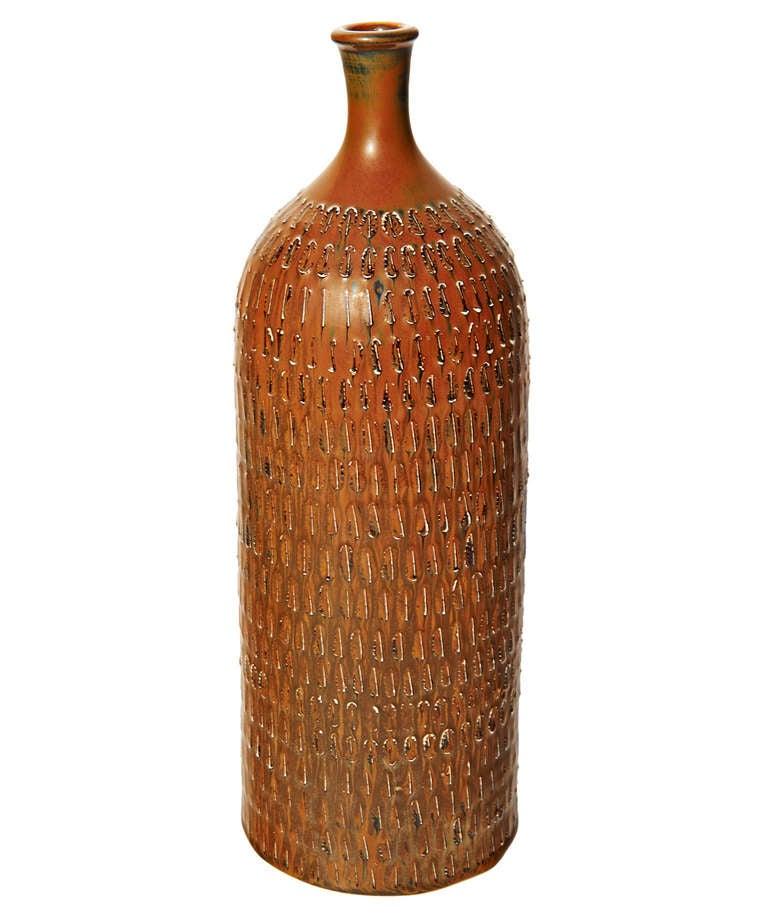 Tall Bottle-Form Vase by Stig Lindberg 8