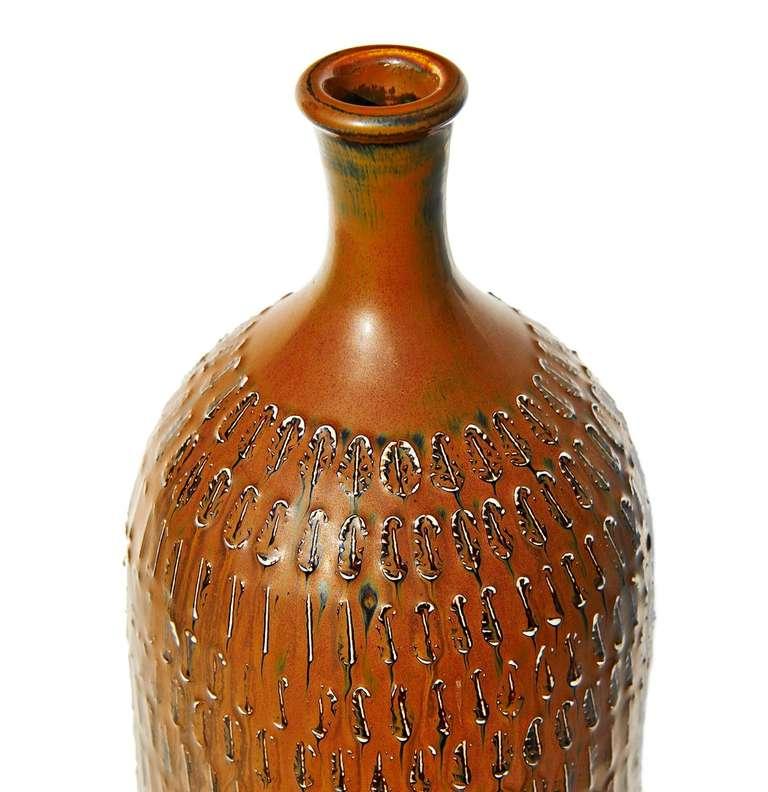 Tall Bottle-Form Vase by Stig Lindberg 5