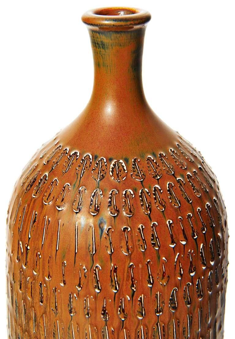 Tall Bottle-Form Vase by Stig Lindberg 3
