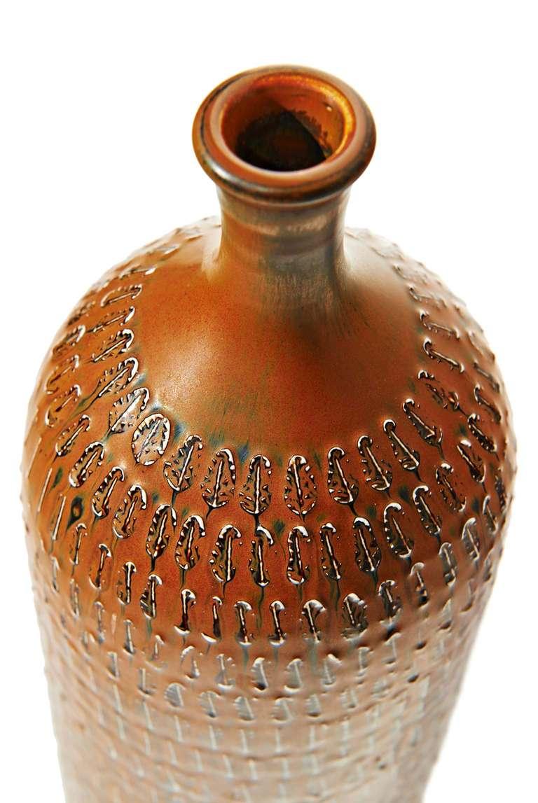 Tall Bottle-Form Vase by Stig Lindberg 6