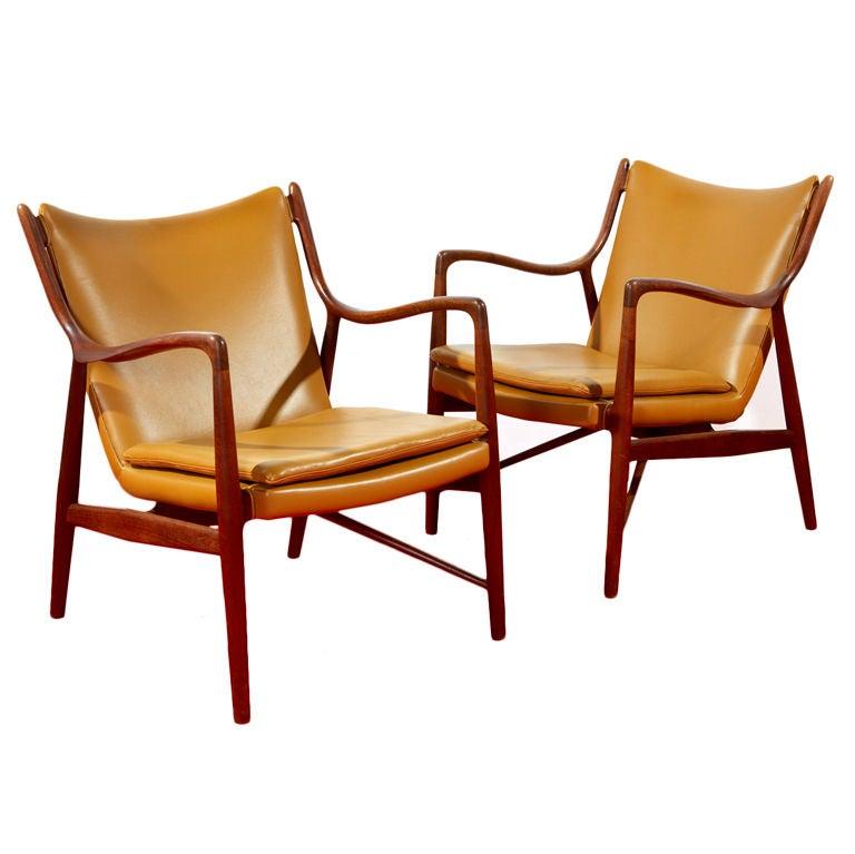 Pair Of Nv 45 Chairs By Finn Juhl At 1stdibs