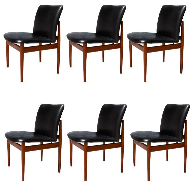 Set Of Six Model 191 Dining Chairs By Finn Juhl At 1stdibs