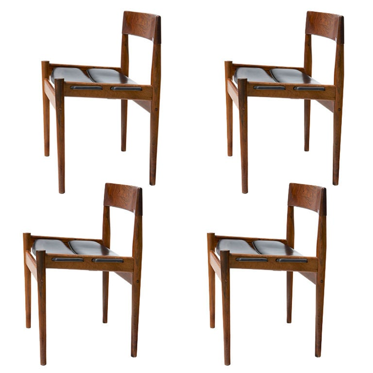 Four Rosewood Dining Chairs by Grete Jalk at 1stdibs
