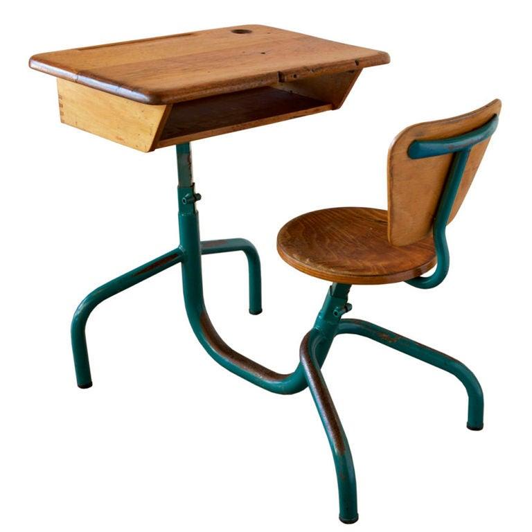 bureau d 39 colier by jean prouv. Black Bedroom Furniture Sets. Home Design Ideas
