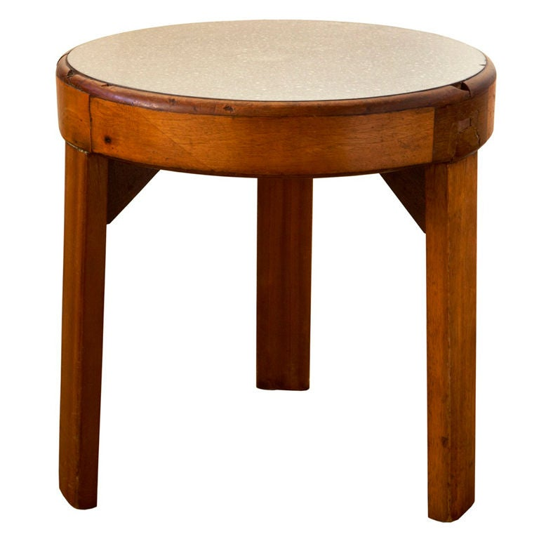 Three Legged Table From Cunard Rms Queen Mary
