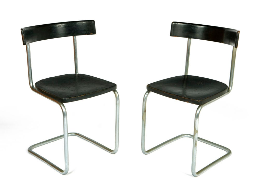 Pair of Early Cantilever Chairs For Sale 3