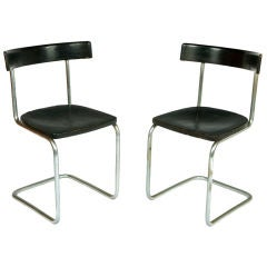 Pair of Early Cantilever Chairs