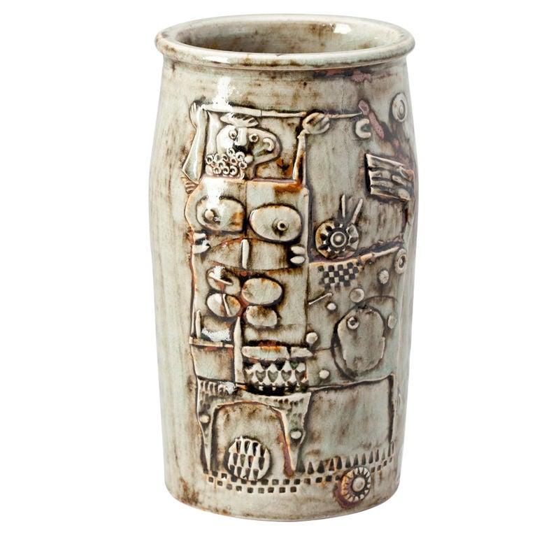 Studio Vase by Stig Lindberg For Sale