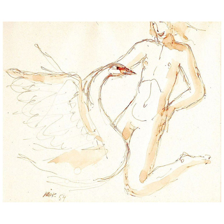 """""""Leda and the Swan"""" by Wilhelm Kåge"""
