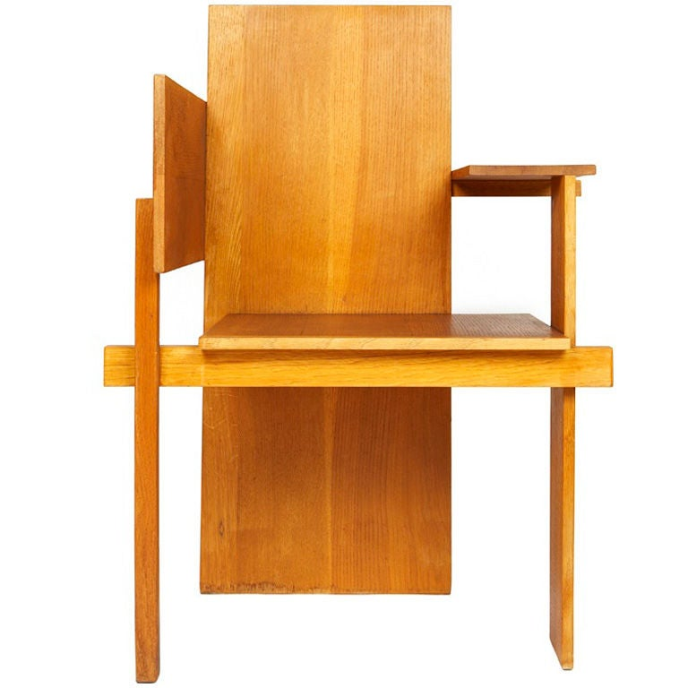 berlin chair by gerrit rietveld at 1stdibs. Black Bedroom Furniture Sets. Home Design Ideas