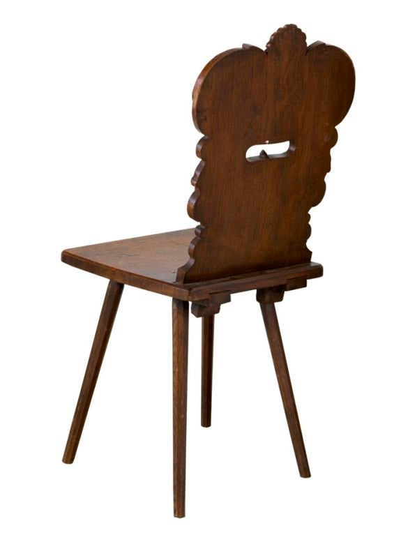 Wood 19th Century Swiss Chair For Sale