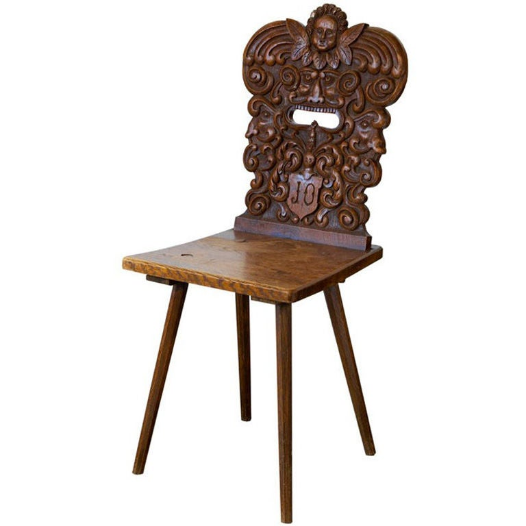 19th Century Swiss Chair For Sale