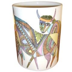 Porcelain Vase by Cuno Fischer & Bjorn Wiinblad