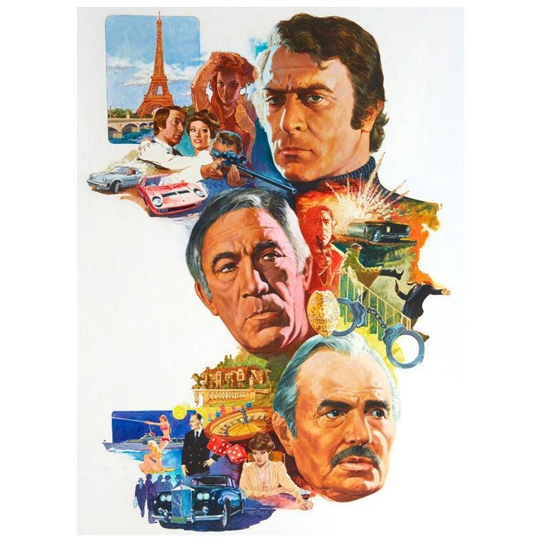 Original Art for 1970s Movie Poster