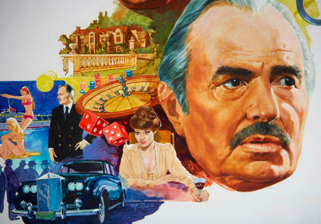 Original Art for 1970s Movie Poster In Good Condition For Sale In Los Angeles, CA