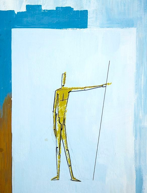 Collection of Modernist Gouaches For Sale 2