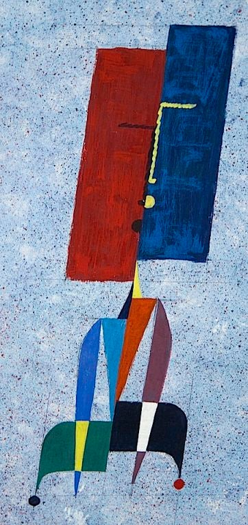 American Collection of Modernist Gouaches For Sale