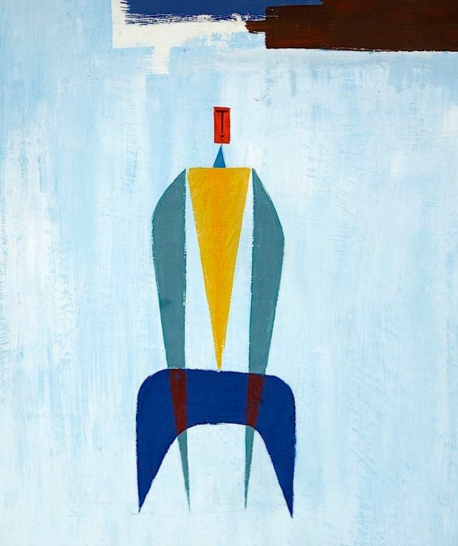 Collection of Modernist Gouaches In Excellent Condition For Sale In Los Angeles, CA