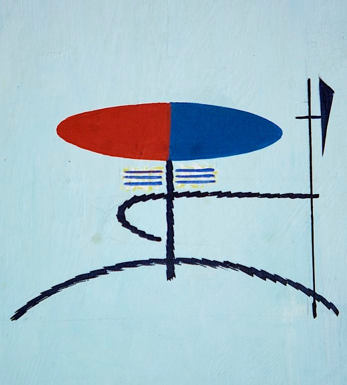 Collection of Modernist Gouaches For Sale 1