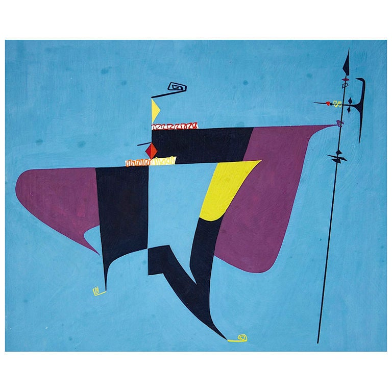 Collection of Modernist Gouaches For Sale