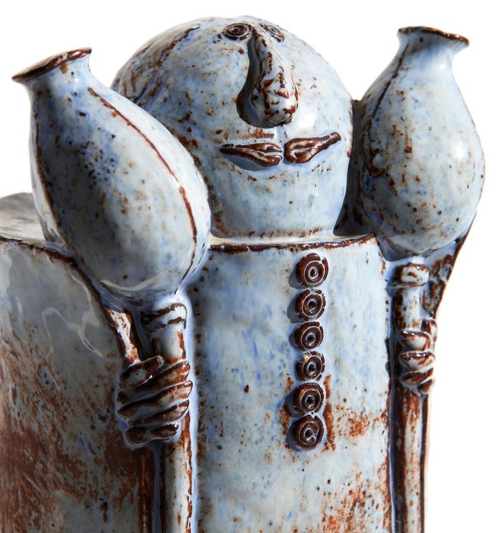Czech Ceramic Figure by Helena Samohelová For Sale