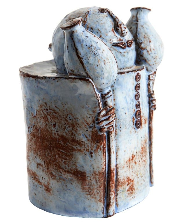 Ceramic Figure by Helena Samohelová In Excellent Condition For Sale In Los Angeles, CA