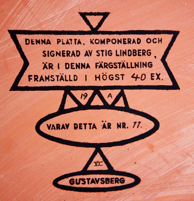 Rare Wall-Plaque by Stig Lindberg 5