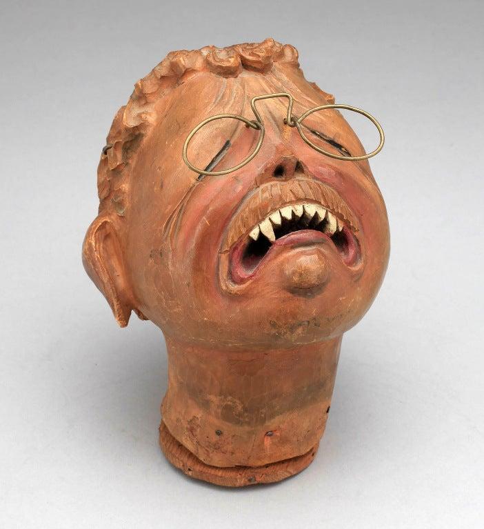 """Teddy Roosevelt"" Japanese Marionette Head, circa 1906 6"
