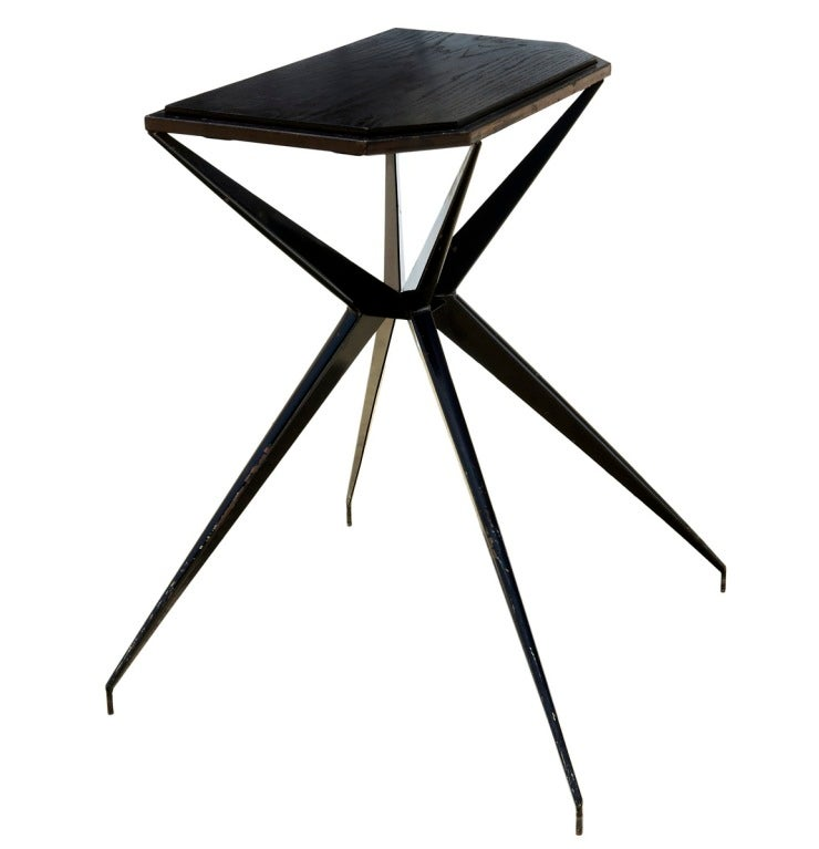 "French ""Prouvésque"" Metal Table with Compass Legs 3"