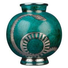 """""""Argenta"""" Vase by Wilhelm Kåge"""